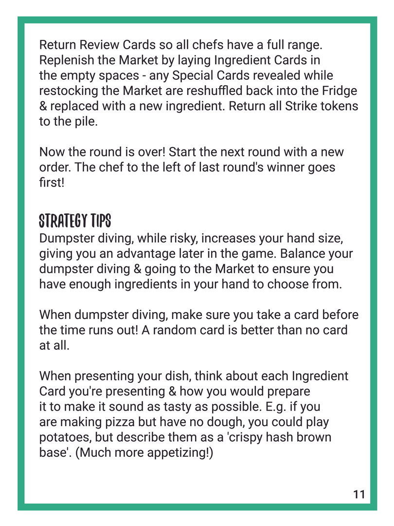 Recipe For Disaster English Rulebook 11