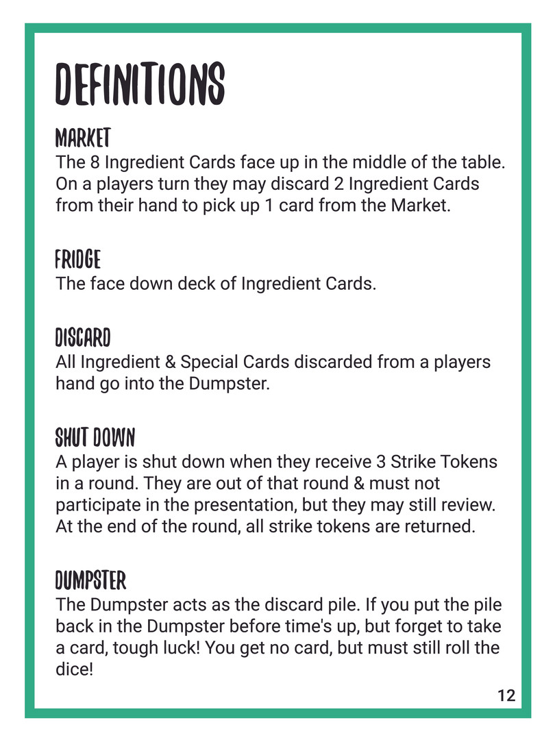Recipe For Disaster English Rulebook 12
