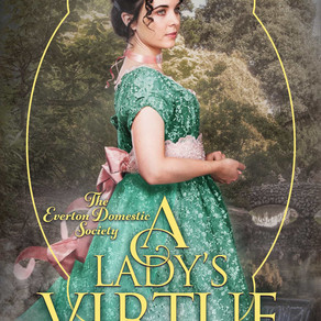 A Lady's Virtue (Everton Domestic Society Book 3) by @asfenichel #historicalromance #Netgalley #book