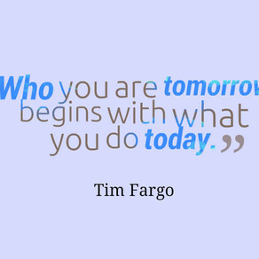 Who You Are Tomorrow Begins With What You Do Today! #inspiration #motivation #success