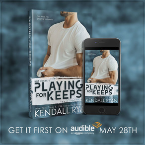 Cover Reveal | Playing for Keeps (Hot Jocks, Book 1) by @KendallRyan1 #coverreveal #romance #Audible