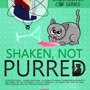 Shaken, Not Purred by @kellezriley is a Cozy Mystery Event pick #cozymystery #romance #giveaway