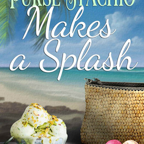 Purse-Stachio Makes A Splash by @WendyWrites1 is a Cozy Mystery pick #cozymystery #onescooportwo