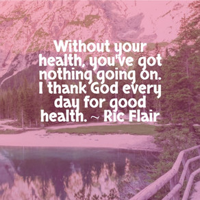 Without Good Health, You've Got Nothing Going On. . . #ThursdayThoughts #inspiration #health