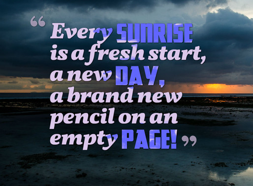 Today is a Fresh Start so Make the Most of it! #TuesdayMotivation #inspiration #motivation