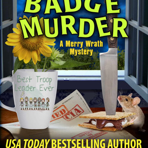 Merit Badge Murder by @LeslieLangtry is a Cozy Mystery Event pick #cozycomedy #mystery #giveaway