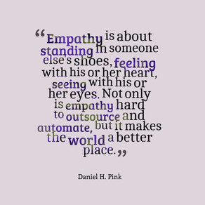 Empathy makes the world a better place so give it a go! #inspiration #motivation #ThursdayThoughts
