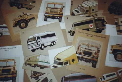 1987 my sketches of heavy-duty trucks