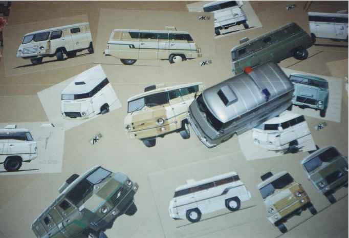 1992 my sketches and model of bank-van