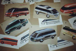 1986 my sketches of ZIL-minibus