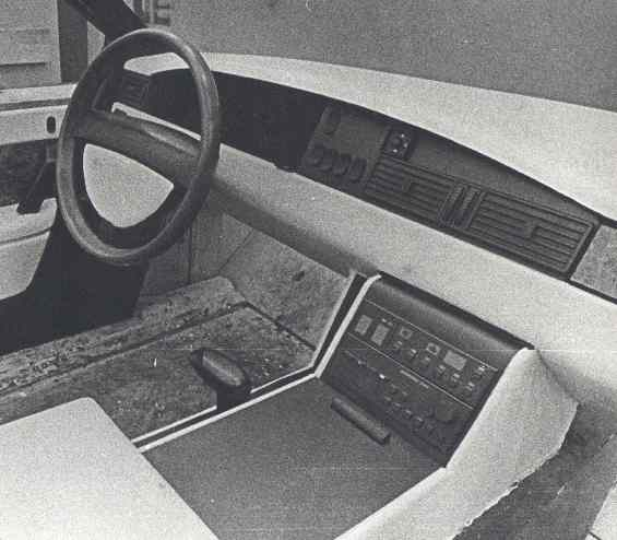 1987 my project of instrumental panel for ZIL-limo