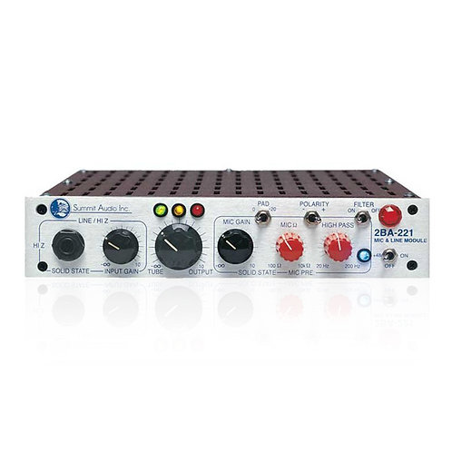 Summit 2BA-221 Mic and Line Preamplifier