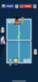Tennis battles with rackets and ping pong paddles for iPhone, iPad, and Android devices