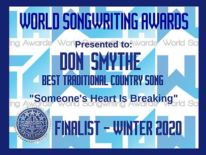 WSA Don Smythe Someone's Heart Is Breaki