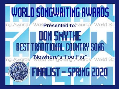 WSA Don Smythe-Nowhere's Too Far