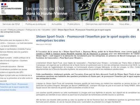 La préfecture de Haute-Vienne annonce le Shizen-Sport-Truck