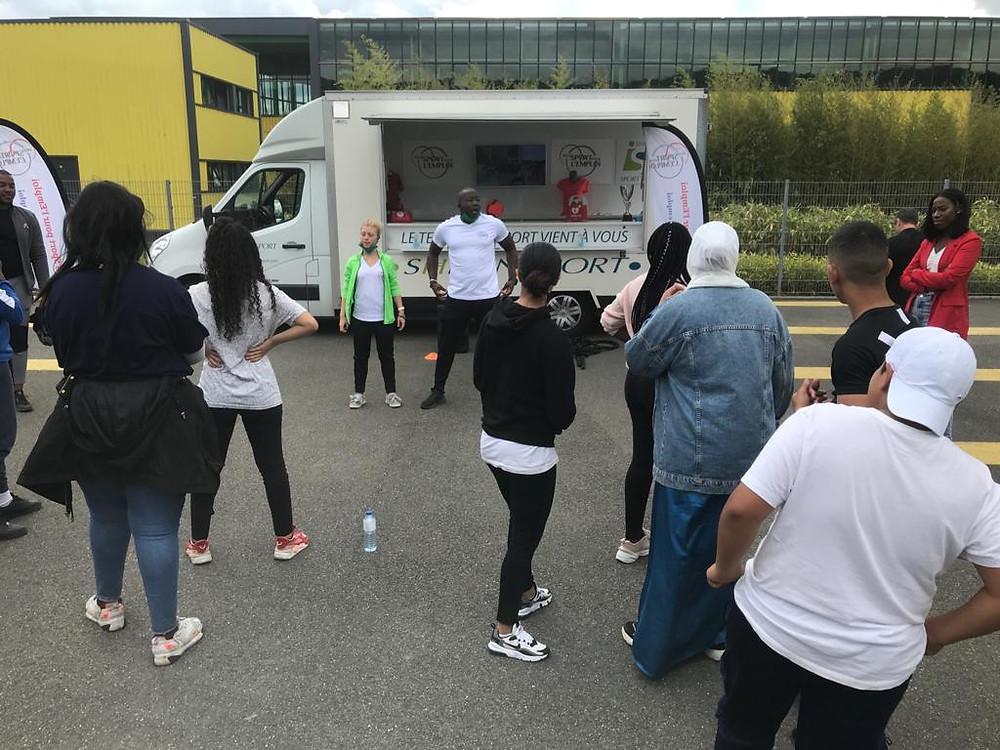 Séance de cross-training à Chanteloup-les-Vignes avec les coachs du Shizen Sport Truck