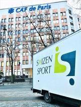 Le Shizen-sport-truck à la CNAF Paris
