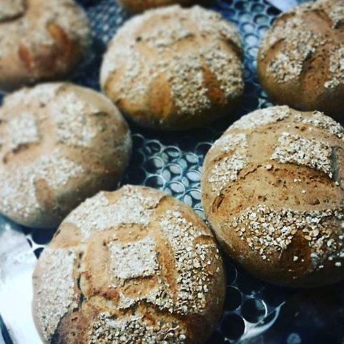 Pão Intergral com Linhaça e Topping de Aveia ou Gergelim de 1 kg