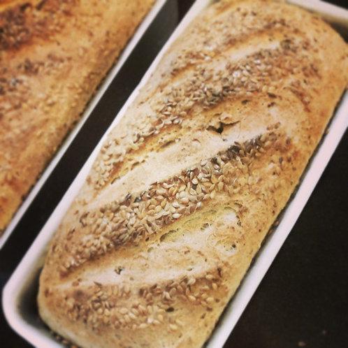 Pão Intergral com Linhaça e Topping de Gergelim