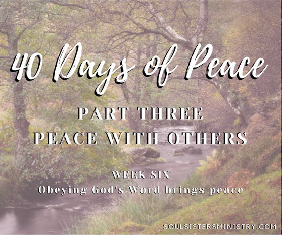 Forty Days of Peace: Day 28