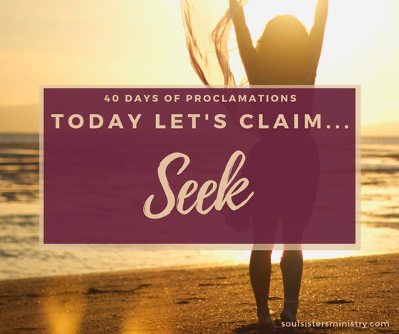 Forty Days of Proclamation: SEEK