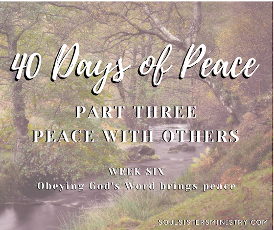 40 Days of Peace:  Day 29
