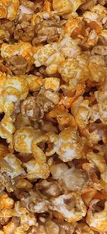 cheese popcorn and caramel corn