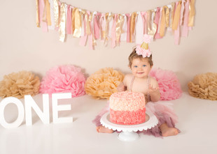 Bronte / One Year, Pink and Gold
