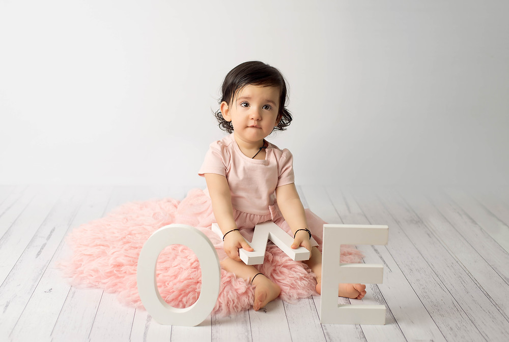 One year old girl