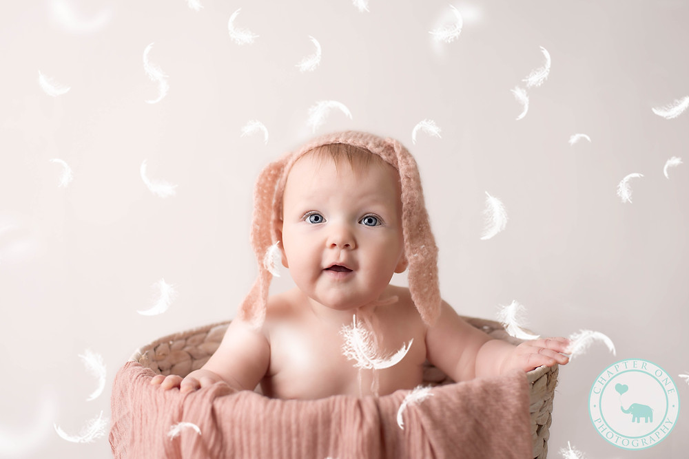 six month baby girl photography