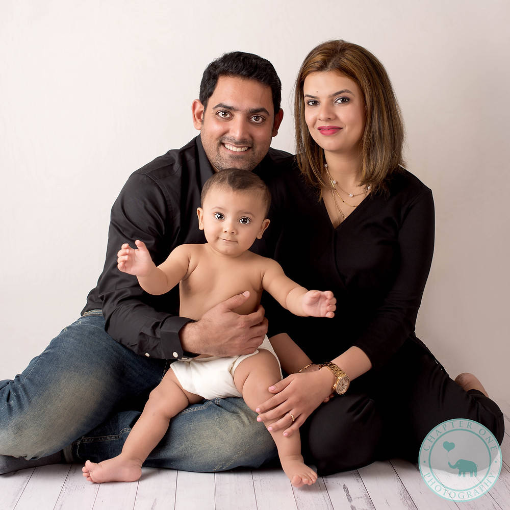 Family with baby photography