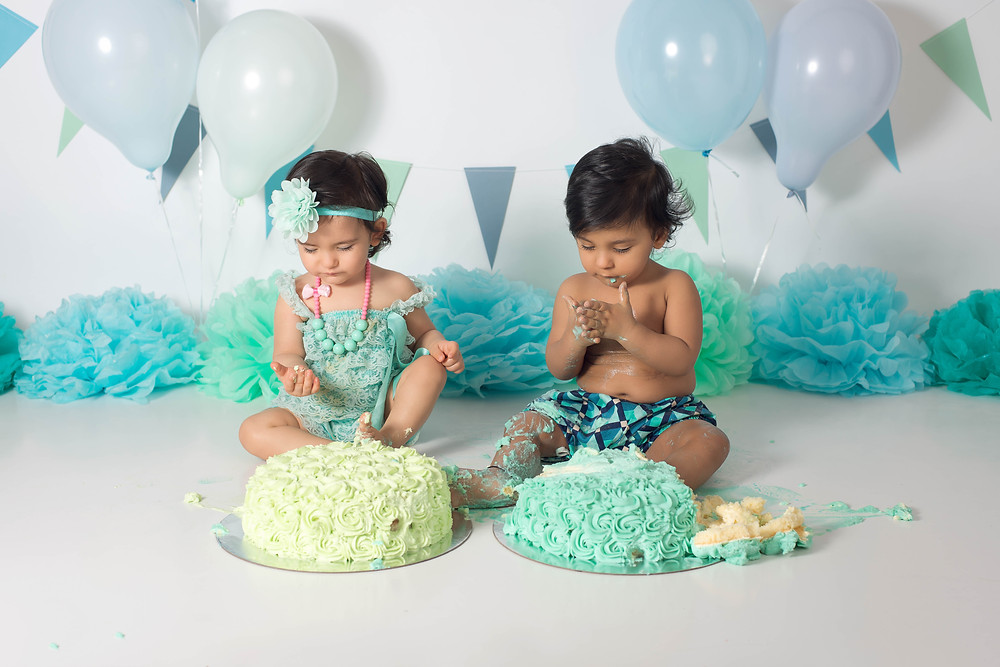 Boy Girl twin Cake Smash