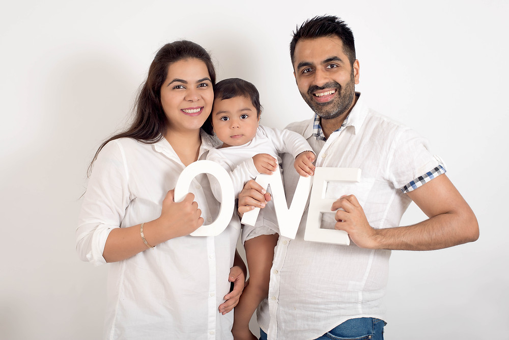 One Year old family photo session
