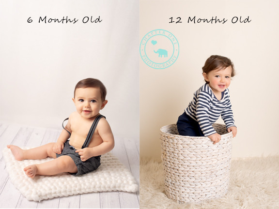 Baby growth 6 months and 1 year