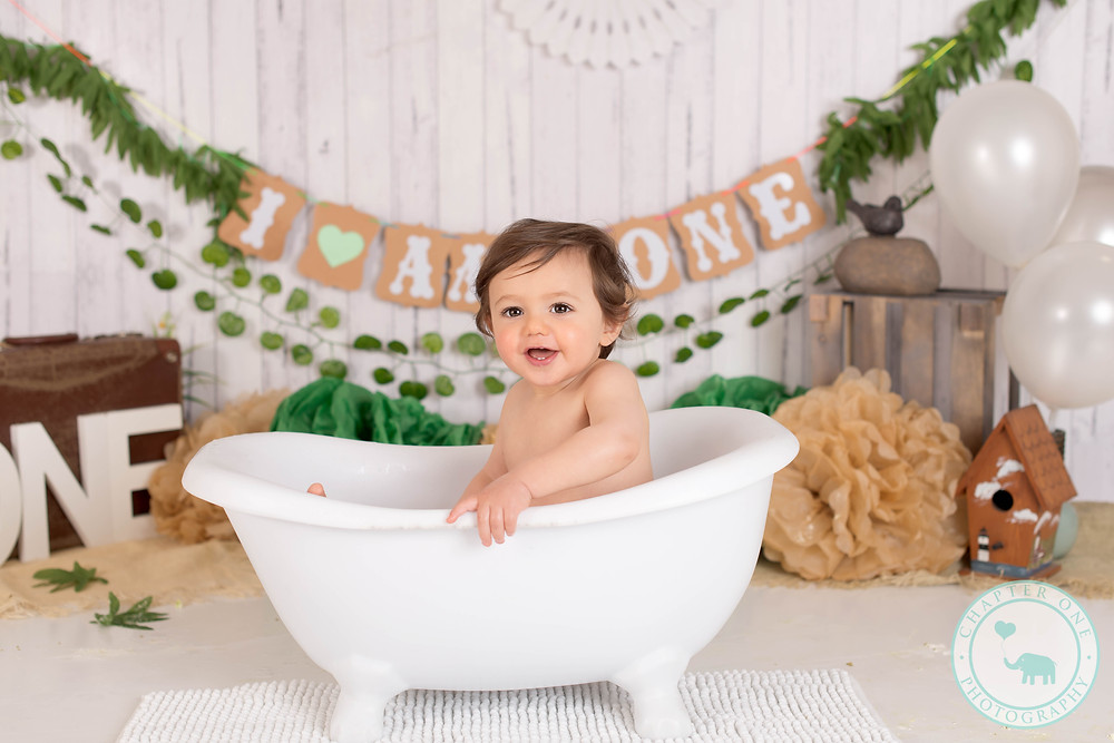 Cake Smash Photography Sydney baby in bath