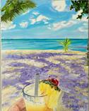I Love Pina Colada's Original Oil Painti