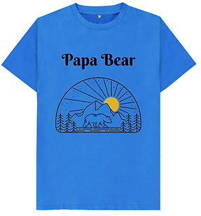 papa bear tshirt that is supporting the WWF, is made with organic cotton, sustainable sourced and printed on demand in the UK