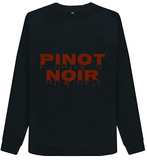 pinot noir organic cotton sweatshirt for the red wine loving woman in your life, sustainable, organic and printed on demand