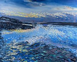 Burnham Overy Staithe Painting Oil Norfo