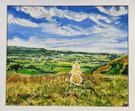 Longridge Valley View from Pendle Hill, Lancashire