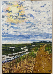 Oil Painting the path to Blakeney Sophia