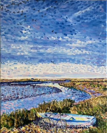 Stiffkey Shimmers North Norfolk Oil Painting Sophia Williams Stiffkey Artist.heic