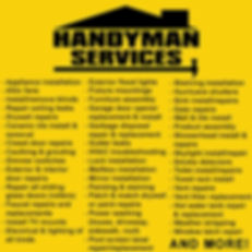 handyman list of services