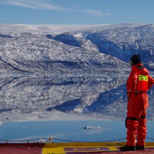 On the Amundsen icebreaker by Marianne Falardeau
