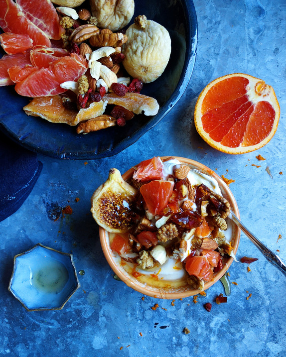 Morning Yogurt with Nuts and Fruit