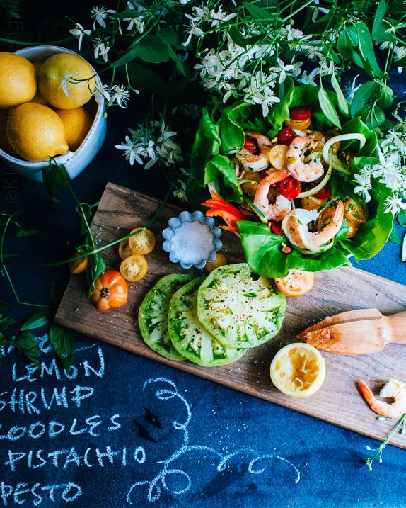 Zoodles and Shrimp Salad