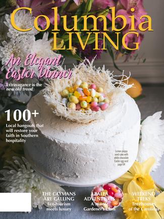An Elegant Easter Dinner, Columbia Living—April May 2020