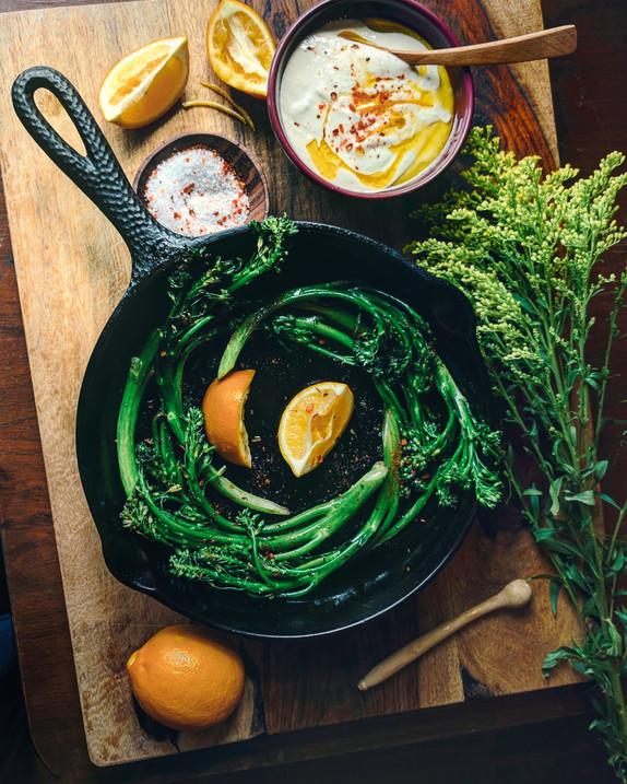 Broccolini and Lemon Tahini Dip