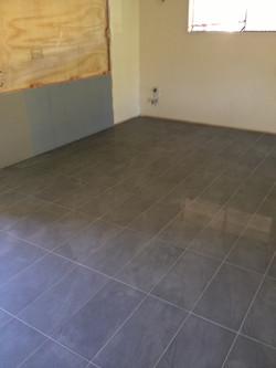 new tiles througout
